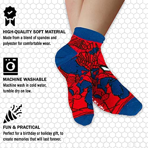 Marvel Spiderman Boys 3 Pairs of Ankle Socks Size 18-24 Months
