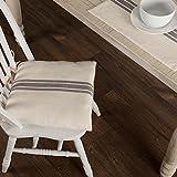 Piper Classics Market Place Grain Sack Stripe Chair Pad, 15'' x 15'', Farmhouse Décor Seat Cushion, Cream & Grey