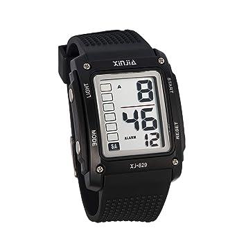 Zz max Reloj Deportivo Reloj Digital electrónico Impermeable multifunción al Aire Libre Calendario Luminoso Estudiante Relojes Negros: Amazon.es: Hogar