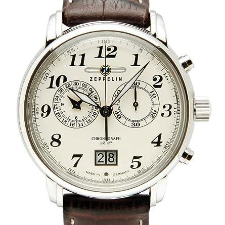 Zeppelin Series LZ127 Graf Zeppelin Men s Chrono Date Analog Watch 7684-5