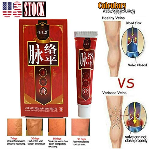 US seller New Varicose Veins Miracle Cream Treatment Ointment Vasculitis Phlebitis Remedy -Advanced Clinicals Vein Care- Eliminate The Appearance of Varicose Veins. Spider Veins. Guaranteed Results (Best Remedy For Varicose Veins)