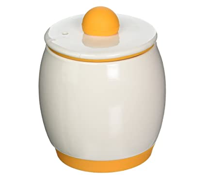 Egg Tastic Egg Cooker And Poacher Ceramic Microwave Safe Portable With Lid