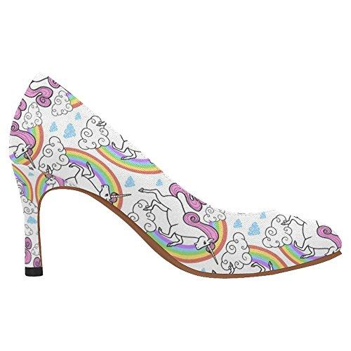 InterestPrint Womens Classic Fashion High Heel Dress Pump Shoes Multi 9 dkdEh5Gt