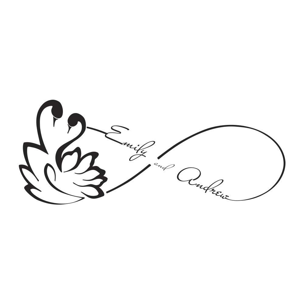 Custom Wall Decals Love Infinity Symbol Decal Swan Family Monogram