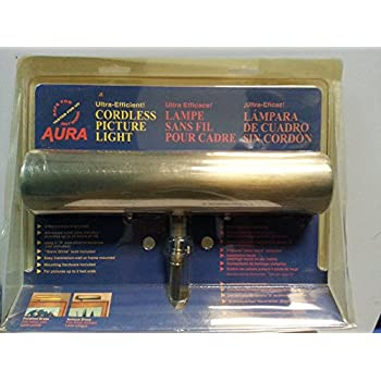 Aura Ultra-Efficient Antique Brass Cordless Picture Light Lamp