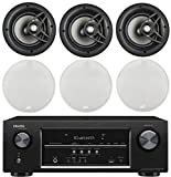 Denon 5.2 Channel 700-Watt Full 4K Ultra HD Bluetooth AV Home Theater Receiver + Polk 8'' 2 Way High-Performance Natural Surround Sound In-Ceiling Speaker System (Set Of 6)
