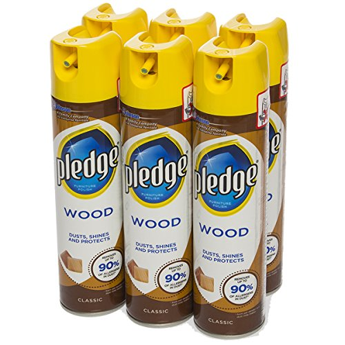 Pledge (6 Pack) 8.5oz Classic Furniture Polish Dusting Spray Cans Household Cleaner Dust Remover Spray