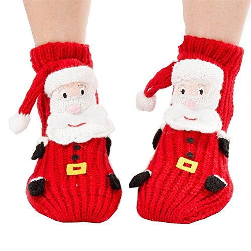 FloYoung Christmas Socks 3d Santa Claus Non-slip Household Floor Socks for Women by FloYoung®