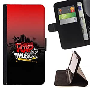 BETTY - FOR HTC One M8 - Rap Music - Style PU Leather Case Wallet Flip Stand Flap Closure Cover