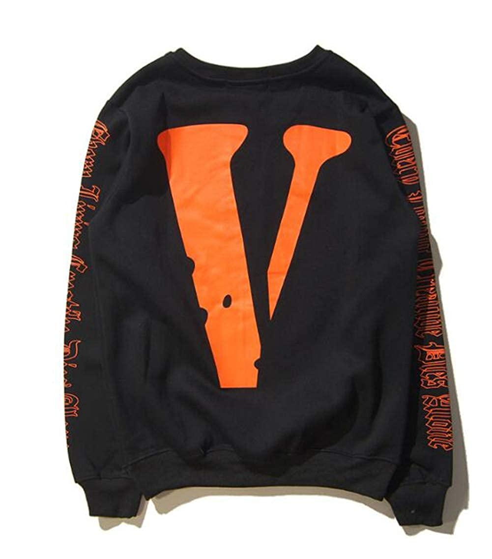 ac34a26f7 Fashion Off Vlone Hip Hop Big V Print Loose Pullover Sweatshirt for ...