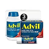 Advil (300 Count, 24 Count, 10 Count) Home & Away Pack, Pain Reliever/Fever Reducer Coated Tablet, 200mg Ibuprofen, Temporary Pain Relief