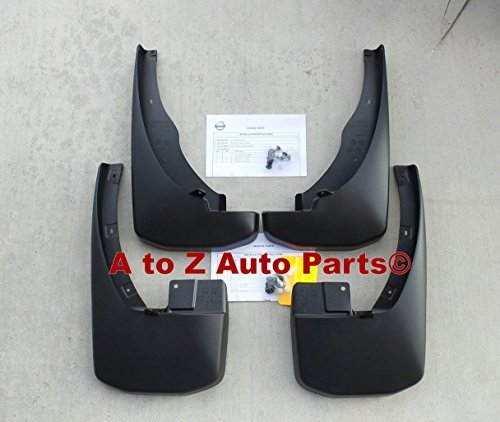 NEW 2008-2015 Nissan Frontier Black Deluxe Molded Splash Guards