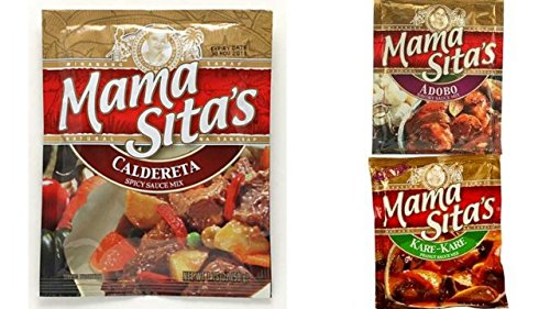 Mama Sita's Sauce Mix 6-Packet Variety Bundle includes 2-Packet Kare Kare Mix, 2.0 oz + 2-Packet Caldereta Mix, 1.76 oz + 2-Packet Adobo Mix, 1.76 - Online Sites Outlet