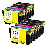 myCartridge Remanufactured Ink Cartridge Replacement for Epson 127 T127 (6 Black 2 Cyan 2 Magenta 2 Yellow, 12-Pack) Fit for Stylus NX530 NX625 WF-3520 WF-3530 WF-3540 WF-7010 WF-7510 WF-7520 Printer