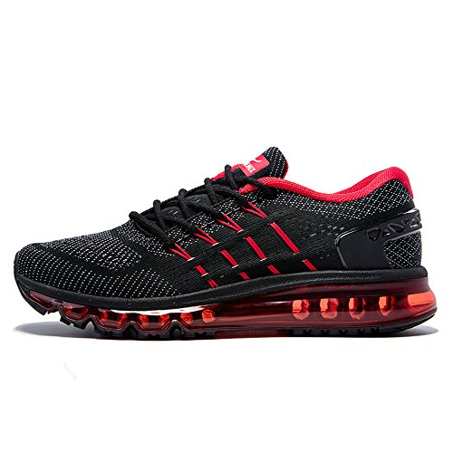 Ginnastica Red Adulto Damping Black Unisex Donna Scarpe Air Knit All'aperto Da Onemix Uomo Running Gym AYpnUfp