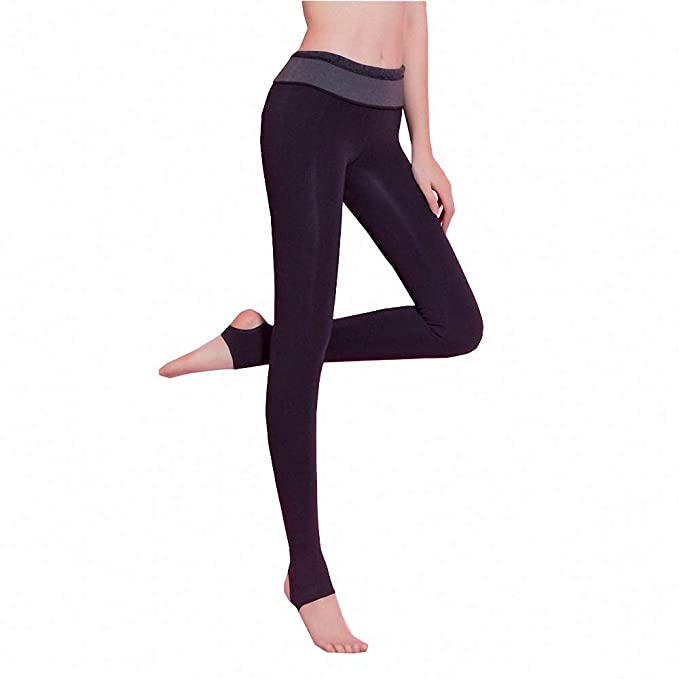 fce9e73d5a111 Ytwysj Fleece Lined Leggings Women Sexy Black High Waist Warm Slimming Thermal  Leggings Tights for Girls at Amazon Women's Clothing store: