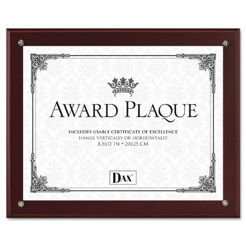 Acrylic Blank Award - DAX N100MT Plaque-In-An-Instant Kit with Certificates/Mats, Wood/Acrylic 10 1/2 x 13 Inches, Mahogany