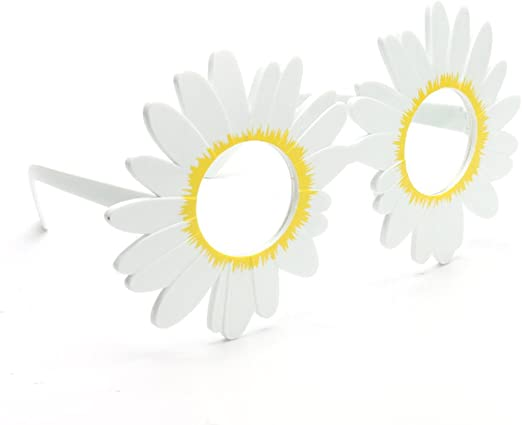 Ocean Line - Gafas de flor de margarita blanca, para fiestas ...