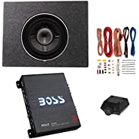 Rockford Fosgate 600W Subwoofer + Q Power Enclosure + Boss 1100W A/B Amplifier