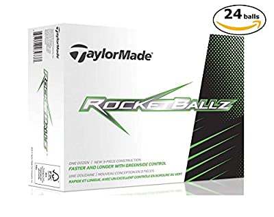 TaylorMade RocketBallz 3-Piece Distance & Control Soft Feel Golf Ball (2 Dozen: 24 balls)