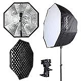 Godox 32''/80cm Umbrella Octagon Softbox Reflector with Carrying Bag + Honeycomb Grid for Studio Photo Flash Speedlight