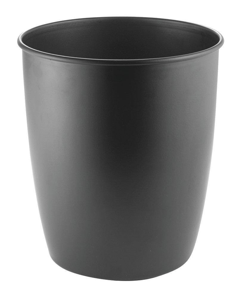 Mdesign metal wastebasket trash can for bathroom office for Bathroom wastebasket