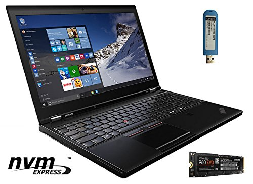 Price comparison product image LENOVO THINKPAD P50 LAPTOP WITH NVME: 15.6 FHD IPS, INTEL XEON E3-1505M V5, 64GB RAM, 1TB NVME M.2 SAMSUNG 960 SSD, NVIDIA QUADRO M2000M (4GB), WIN 7 PRO 64-BIT (WIN 10 PRO UPGRADE USB STICK INCLUDED)