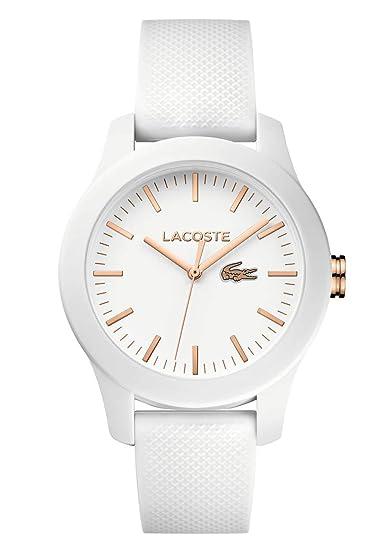 Lacoste 2000960 - Reloj analógico de pulsera para mujer  Amazon.es  Relojes 5233d0d3af35