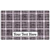 Drymate Personalized Pet Place Mat - Black Paw Plaid - Personalized Pet Food Mat (Large - 16'' x 28'')