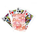 beatChong Cherry Blossoms Clouds Pink Pattern Poker Playing Card Tabletop Board Game Gift