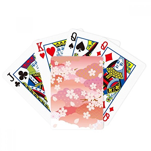 beatChong Cherry Blossoms Clouds Pink Pattern Poker Playing Card Tabletop Board Game Gift by beatChong