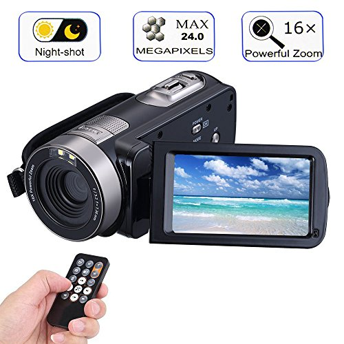 Digital Video Camera Camcorders With IR Night Vision 24.0...