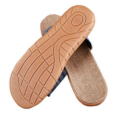 Skid Navy Nanxson Wear Home Anti TX0026 Women Slipper Summer Men's TM Linen RPq01Rag