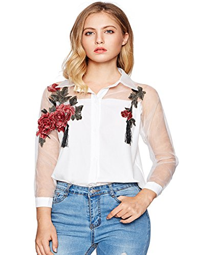 Embroidered Button Shirt - 5