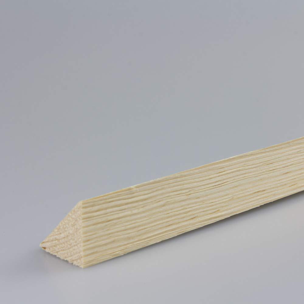 Dreikantleiste Bastelleiste Abdeckleiste Abschlussleiste aus unbehandeltem Fichte-Massivholz 900 x 22 x 22 mm