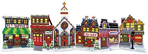 (Christmas Village Plastic Canvas Kit)
