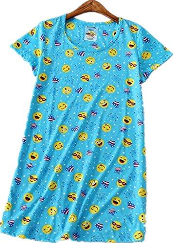 Amoy madrola Womens Nightgown Cotton Sleep Tee Nightshirt Casual Print Sleepwear