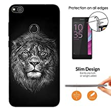 003295 - Lion Face The King Design Huawei P8 Lite 2017/ P9 Lite 2017 Fashion Trend CASE Ultra Slim Light Plastic 0.3MM All Edges Protection Case Cover-Clear