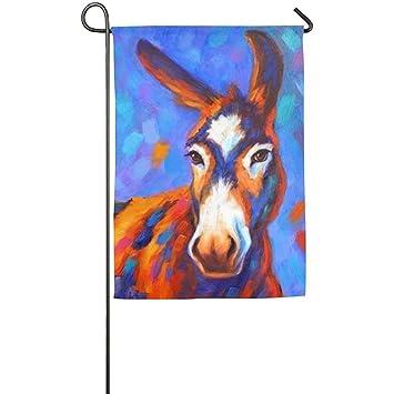 Dozili Jardin Drapeau Initiale Donkey Animal Printemps