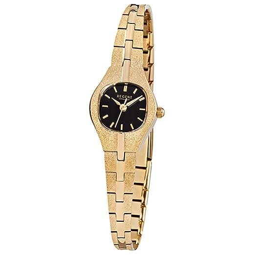 Regent Mujer de acero reloj de pulsera elegante Analog ionenplattiert Oro Pulsera de oro de cuarzo reloj urf378: Regent: Amazon.es: Relojes