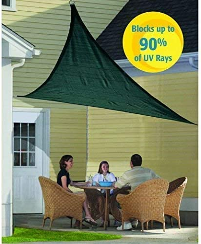 Sun Shade 12 x 12 x 12 Breathable high Density Knitted Fabric Green Triangle Sun Shade SAIL UV Block for Outdoor Patio Garden Pergola Canopy