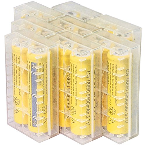 Yellow li-ion rechargeable battery perfect for flashlight 16pcs 18650 3.7v 9800mah rc toy or electronic gadgets + storage box cover
