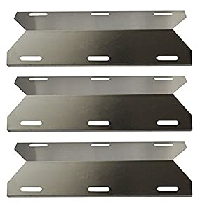 Hongso 3-pack BBQ Gas Grill Heat Plate, Heat Shield, Heat Tent, Burner Cover, Vaporizor Bar, and Flavorizer Bar for Costco Kirland, Jenn-air, Nexgrill, Lowes (17 3/4