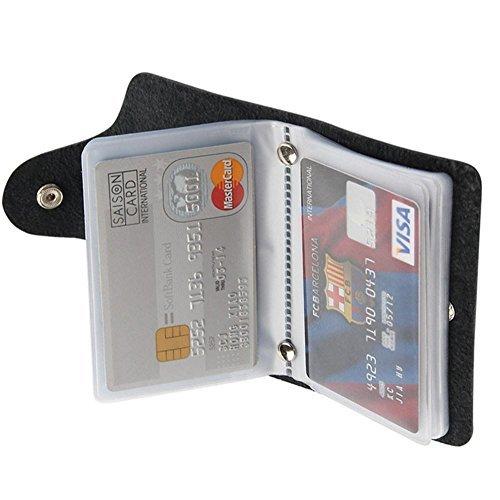 Soft Leather Credit Card Holder Wallet Pocket ID Business Card Case Purse