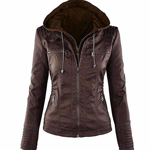 Leather Vintage Coat - 1