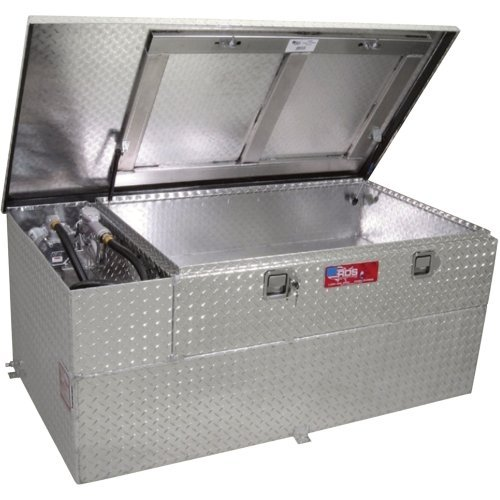 - RDS Fuel Transfer/Auxiliary Tank/Toolbox Combo with 8 GPM Pump - 60-Gal. Capacity, Diamond Plate, Model# 73326