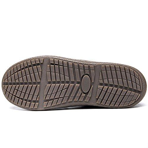 Jackshibo Mujeres Hombre TotalHombreste Forrado De Piel Impermeable Antideslizante Zapatillas Al Aire Libre Botines De Casa Deslizador De La Casa Negro-tobillo Deslizador