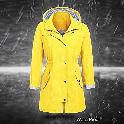 Moda Impermeabile Giallo Donna Giacca Vicgrey Parka Autunno Con ❤ Cappotto Felpa Inverno Outwear Donna Antivento Cappuccio xwEZtvTZq