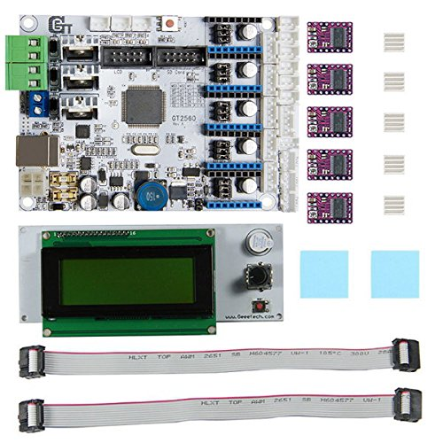3D Printer Motherboard GT2560 + DRV8825 Driver + LCD2004 Kit