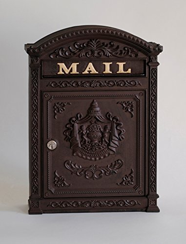 - Victorian Style Locking Mailbox Color: Rust Brown by ECCO